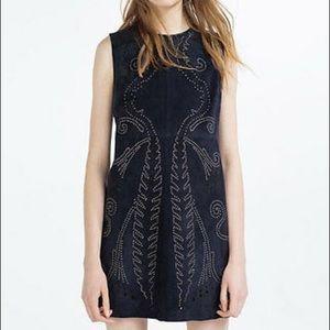Zara NWT Suede Mini Dress
